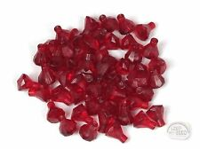 LEGO - 3-Buck Bag - 50 x Jewel - 1x1 - 24-Facet - Trans Red - New - (Ruby)