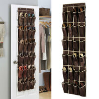 24 Pocket Home Over Door The Hanging Organizer Holder Storage Rack Closet Shoes
