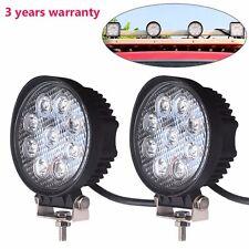 2X 27W LED Work Light Flood Lamp Jeep Tractor Truck SUV UTV ATV Offroad Round