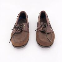 Sperry Top Sider Mens Boat Shoes Size 11M Brown Leather 2 Eyelet 0195412