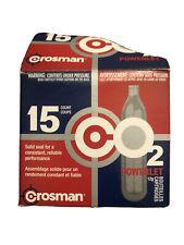 Crosman C2315 12-Gram CO2 15 Cartridges; package opened but never used