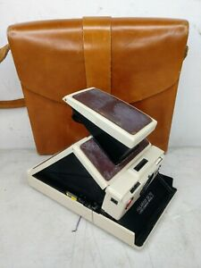 POLAROID SX-70 LAND CAMERA MODEL 2 w/ LEATHER CARRYING CASE