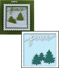 Impression Obsession PEACE FRAME Thin Steel Die DIE598-V Christmas