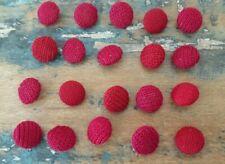 ♥Nr.S4 -Zauberhafte alte Stoffknöpfe roter Mix 20 St. DM 11,5 mm ♥