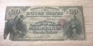 New York NY , series of 1865 , contemporary copy of national bank note