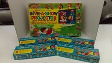 1961 Kenner Give A Show Cartoon Projector With 4 Extra Boxes Of Slides