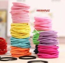 100Pcs Hair Ties Elastics Ponytail Holders Elastic Bands Womens Girls Colorful