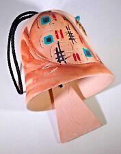 Vintage Southwestern Pueblo Dwelling Pottery Wind Chime Bell (Signed - Aza)