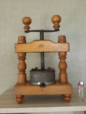TABLE press FRUIT GRAPE WINE Blueberry PRESS ANTIQUE WOOD old country century