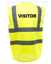 VISITOR  HI-VIS SAFETY VEST EQUESTRIAN. HIGH VIZ WAISTCOAT CYCLING ROAD