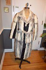 white black cross mink fur coat