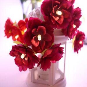 20/40 LED Rose Flower String Fairy Lights Home Wedding Romantic DIY Party Decor