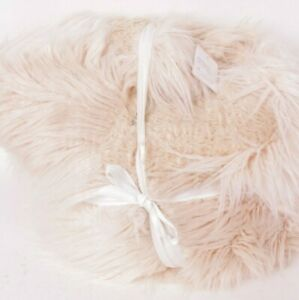 """Pottery Barn Mongolian Patchwork Faux Fur Beanbag cover, ivory 41"""" Teen insert"""