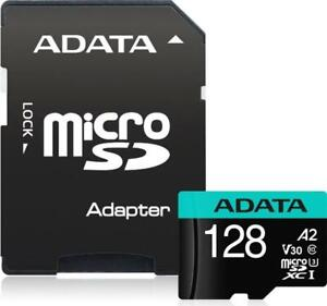 ADATA Premier Pro R100/W80 microSDXC 128 GB Kit, UHS-I U3, A2, Class 10