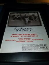 Foo Fighters Learn To Fly Rare Original Radio Promo Poster Ad Framed!