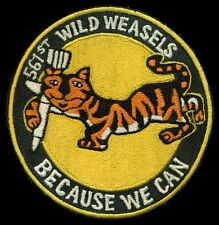 USAF 561st Tactical Fighter Squadron Wild Weasels Patch S-11