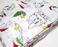 Pottery Barn Kids Peanuts Snoopy Wood Stock Organic Cotton Full Sheet Set New