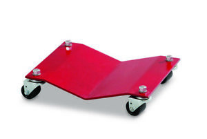 """Set of (4) Merrick Steel Auto Car Dolly 8"""" X 16"""" w Swivel Casters in Red M998001"""