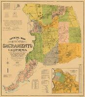Sacramento California Landowner - Phinney 1911 - 23 x 26.31