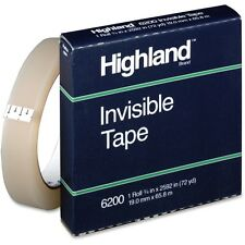 """""""Highland Invisible Permanent Mending Tape, 3/4 x 2592, 1 Core, Clear"""""""