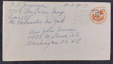 USA 6c Postal Stationery Revalued to 5c Army Postal Service Cancel to DC,  1948