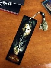 LORD OF THE RINGS Epic Fantasy Movie Novel ARAGORN BOOKMARK with PLASTIC SLEEVE