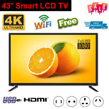 "43"" 4K 1080P HD Smart LED LCD TV Wifi Network Television HDTV Player Freeview AU"