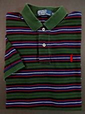 Ralph Lauren Polo Shirt SIZE S/P SMALL/PETITE Mens Green/Blue/White/Red Striped