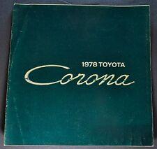 1978 Toyota Corona Catalog Sales Brochure Nice Original 78