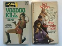 Lot 3  PULP FICTION LURID Pocket Paperback Multiple VINTAGE TRASHY LANCER CURTIS