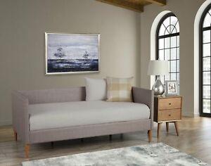 Alpine Furniture Britney Daybed, Dark Grey Linen