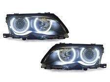 DEPO UHP LED Angel Halo Projector Headlight For 2002-2005 BMW E46 Sedan/Wagon
