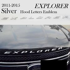 US SHIP! CHROME Hood Emblem Decal Sticker Letter Fits 11-16 Ford Explorer Sport