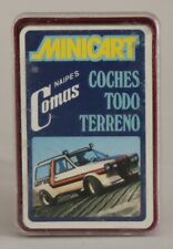 1974 Naipes Comas cards - ALL TERRAIN CARS - Spanish FULL mini deck (24 cards)