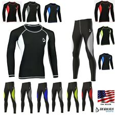 Deckra Mens Compression Tight Base Layer Armour Skin Fit Under Shirt, Pants, Set