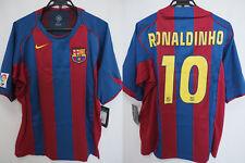 2004-2005 FC Barcelona Barca Jersey Shirt Camiseta Home Ronaldinho #10 XL BNWT