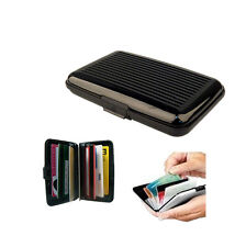 Aluminium Aluma Wallet Credit Business Card Case Purse Holder Safety Metal Black