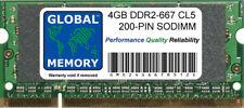 4 Go (1 x 4 Go) DDR2 667 MHz PC2-5300 200-PIN SODIMM Mémoire RAM pour ordinateurs portables