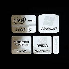 Intel Core i5 Logo Metal Decal Sticker NVIDIA Radeon Graphics (Silver Type B)