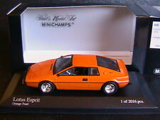 LOTUS ESPRIT 1978 ORANGE PEARL MINICHAMPS 400135221 1/43 LIMITED EDITION 2016