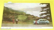 Evergreen Highway By Colombia River - Old Car 1940s WA State postcard Nice SEE!
