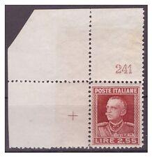 REGNO 1927  -  PARMEGGIANI   LIRE  2,55    NUOVO  ** NUMERO DI TAVOLA