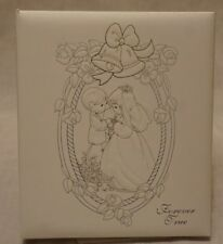 Precious Moments Gold & Silver Embossed Forever True Wedding Photo Album