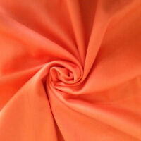 100% Cotton Fabric Orange Solid Plain Color Quilting Sewing By The Yards 1/2.5/3
