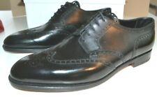 JOHN LOBB Black HAYLE Calf Brogues Shoes Handmade Lace New UK 11.5 E Org £1110!!
