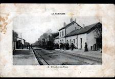 LA GUERCHE-sur-L'AUBOIS (18) TRAIN en GARE animée en 1912