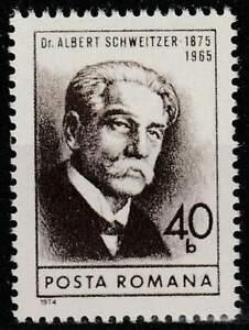 Nobelpijs Winnaars postfris Roemenie 1974 MNH 3243 - Schweitzer (028)