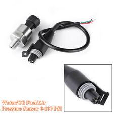 0-100 PSI Steel Water Pressure Gauge Meter Sender Oil Fuel/Air Pressure Sensor