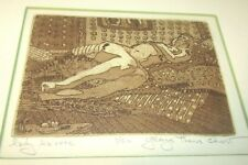 GEORGE THOMAS CHREST (20TH C) BORN 1940-ETCHING-FRAMED-LADY LA ROSE-1/50-ART