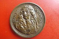 *Bronzemedaille  ca.57mm-ca.60,6g. *Jean de La Fontaine (1718)(BOX 1)